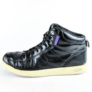 Clae Russell Black Leather High Top Sneakers 11.5